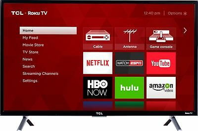 "TCL - 32"" Class (31.5"" Diag.) - LED - 3-Series - 720p - Smart - HDTV Roku TV"