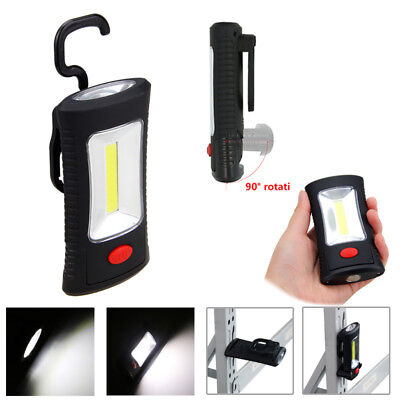 Magnetic 3 LED COB Inspection Lamp Work Flashlight Light Rechargeable USB Torch