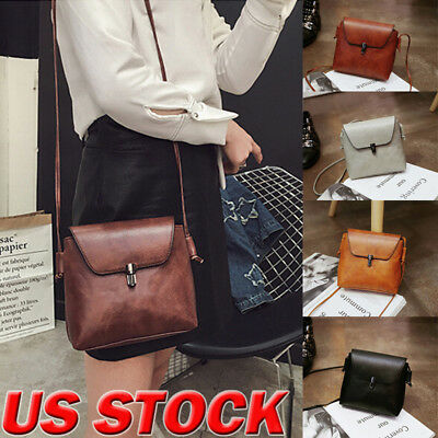 Women Shoulder Bag PU Leather Handbag Messenger Crossbody Satchel Purse