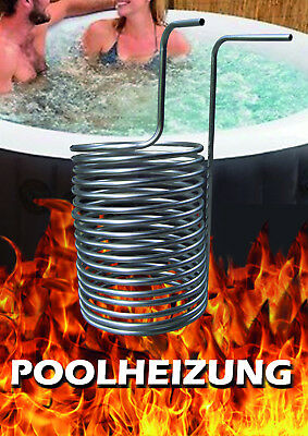 Poolheizung Feuer Heizspirale Pool Holz heißes Poolwasser Fire Twister