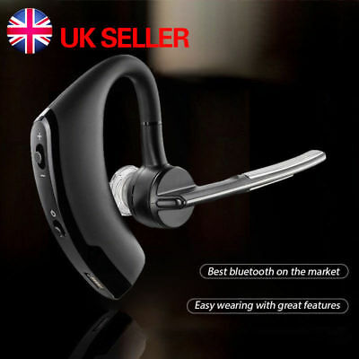 Wireless Bluetooth 4.0 HandsFree Car Kit Headset Music Headphone Voice Earpiece