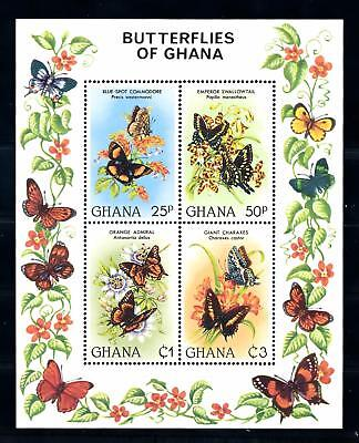 [70800] Ghana 1982 Insects Butterflies Souvenir Sheet MNH