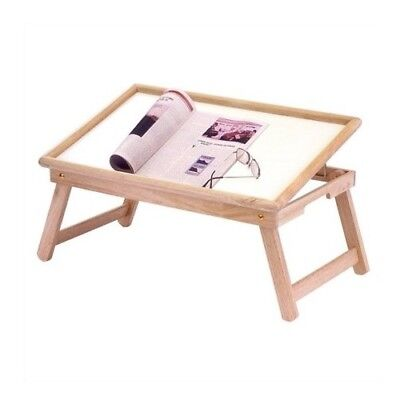 Bed Tray With Flip Top Wooden Book Stand Folding Easel Wood Holder Sketch Reader