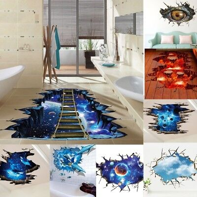 3D Wall Stikers Floor Wall Stickers Removable Mural Decals Vinyl Art Home Decor