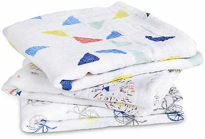 Aden + Anais CLASSIC MUSY - 3 PACK - LEADER OF THE PACK Baby BNIP