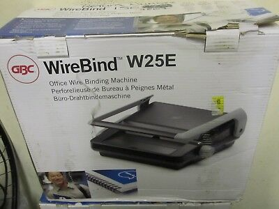 GBC WireBind W25E Binding Machine with Electric Punch  #W510