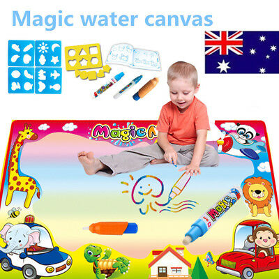 Large Water Drawing Mat Doodle Mat Xmas Gifts Girls Boys Age 2 3 4 5+ Toy AU