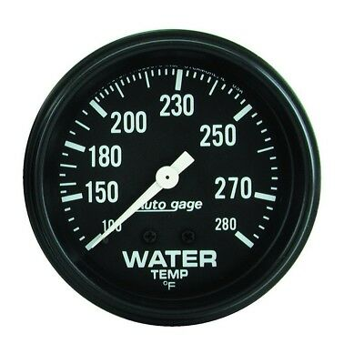 Auto Meter AutoGage 2 5/8in Mechanical 100-200 Deg Water Temp Gauge - Black