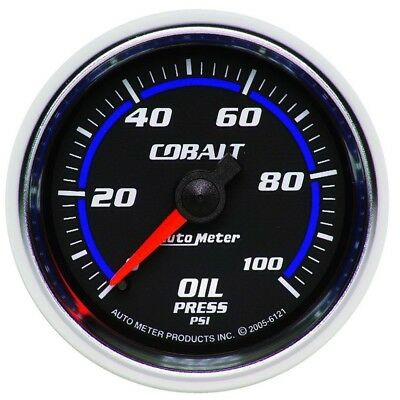 Auto Meter Cobalt 52mm 100 PSI Mechanical Oil Pressure Gauge