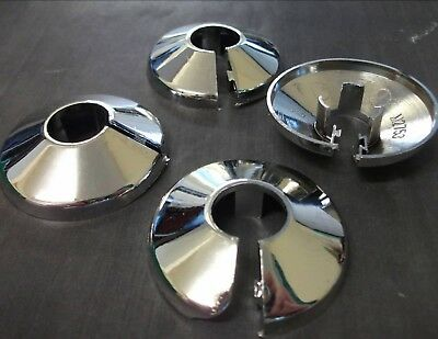 Radiator collars. Pack of 4. Surround finish. Chrome plated. *Top Quality!