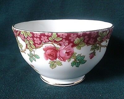 Royal Sutherland Sugar Bowl Bone China Tea Set Sugar Basin Pink Roses & Flowers