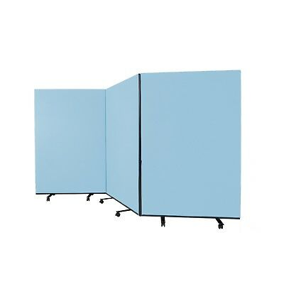 New Large Mobile Triple Screen Room Divider Partition, Fiesta Fabric