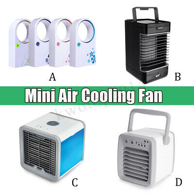 Portable Mini Desktop Air Conditioner USB Small Fan Cooling Cooler Home Office