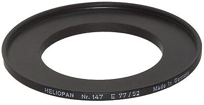 Heliopan #147 Step-Up Ring: 52mm - 77mm  -  SOLID BRASS!