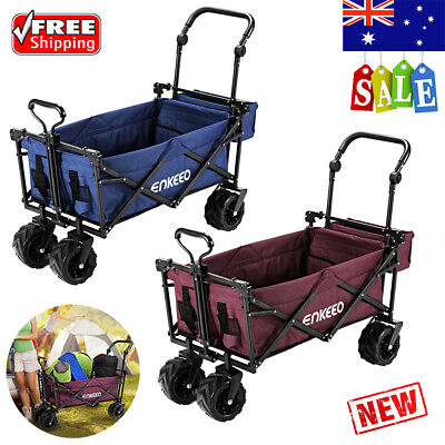 Collapsible Outdoor Utility Wagon Garden Sports Cart Trailer Storage With Canopy
