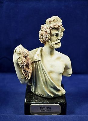 Dionysus sculpture bust ancient Greek God of wine and extacy artifact