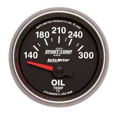 Auto Meter 2-1/16in S/C II Oil Temp. Gauge 140-300