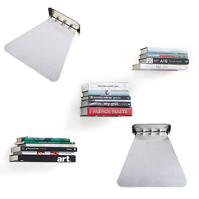 1xInvisible Bookshelf Wall Mounted Floating Book Shelf Shelves Storage Ornament