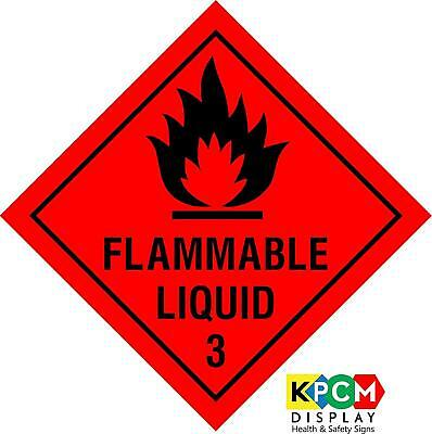 Dangerous substance labels Flammable liquid safety sign 3 - Self adhesive sticke
