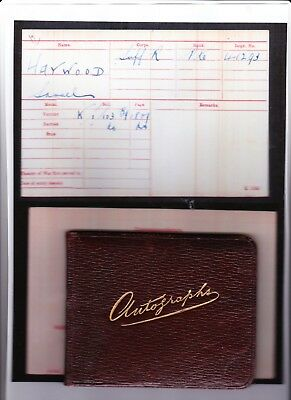 Autograph Book - L/Cpl Haywood, Suffolk Regiment, from Mansfield