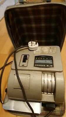 Vintage neopost 205 electric franking machine in case