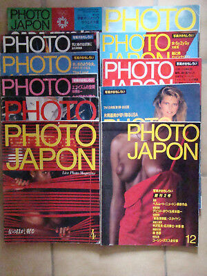 PHOTO Lot de 11 MAGAZINE PHOTO JAPON  Edition japonnaise  japanese publishing