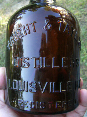 Vintage, WRIGHT & TAYLOR DISTILLERS, LOUISVILLE, KY, whiskey bottle.