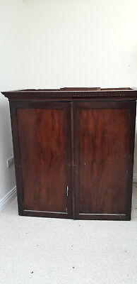 Victorian Solid wood Mahogany Linen Press wardrobe drawers storage