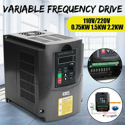 110/220V Variable Frequency Drive Filter Inverter VFD Motor Speed Vector Control