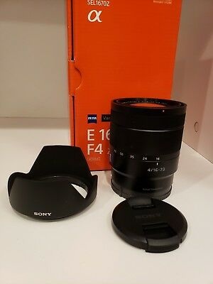 Sony Vario 16-70mm f/4 Aspherical ED ZA OSS Lens Excellent condition