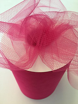 Tulle Fabric Spool/Roll 6 inch x 100 yards 300 feet, 34 Colors Available, On