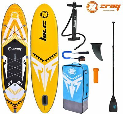 ZRAY X-RIDER X1 9.9 SUP Board Stand Up Paddle Surf-Board Carbon MIX Paddel Leash