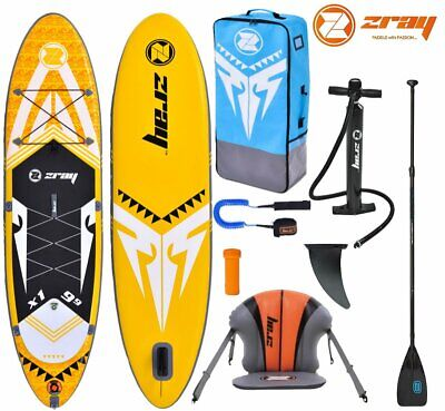 ZRAY X-RIDER X1 9.9 SUP Board Stand Up Paddle Surf-Board Kajak-Sitz Carbon MIX