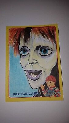 Rare Fright-Rags 2018 Child's Play Sketch Card - 1 of a kind Andrew Lopez