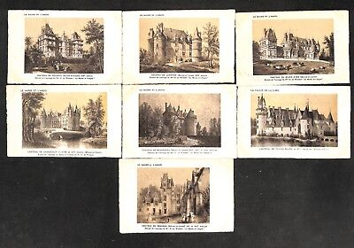 "49 - Lot 7 CPA - LE MAINE ET L'ANJOU - CHATEAUX - Collection ""SUPRA"""