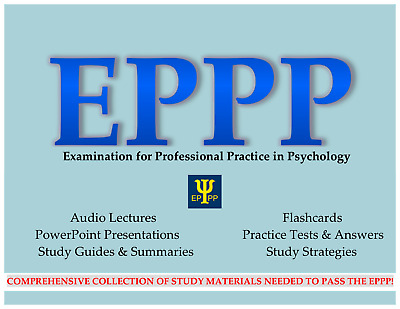 EPPP Psychology Study Materials: audio lectures, flashcards, many practice tests