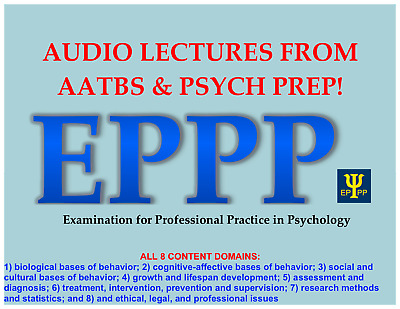 EPPP Study Materials: Audio Lectures on Psychology Concepts from all 8 domains