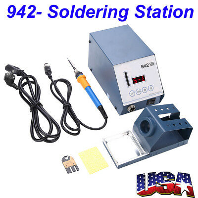 ESD-942 110V SMD Brushless Heat Gun Soldering Iron Station w/ Stand Anti-static