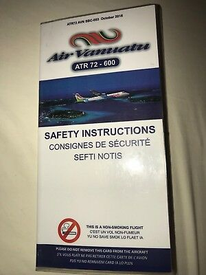 Air Vanuatu ATR 72-600 Airline Safety Card
