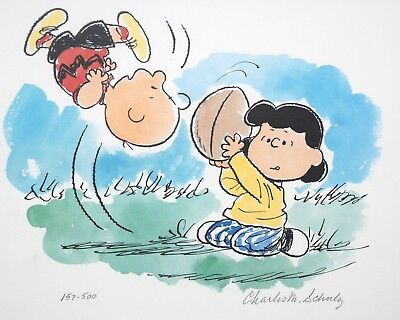 Peanuts Limited Edition Lithograph Auugghhhh... Signed by Schulz Charlie Brown