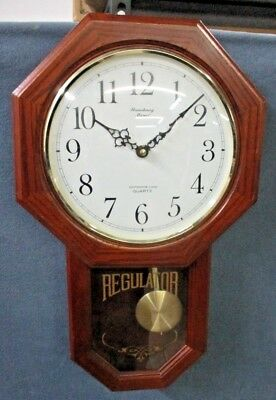 Strausbourg Manor Oak Schoolhouse Wall Clock with Progressive Westminster Chimes
