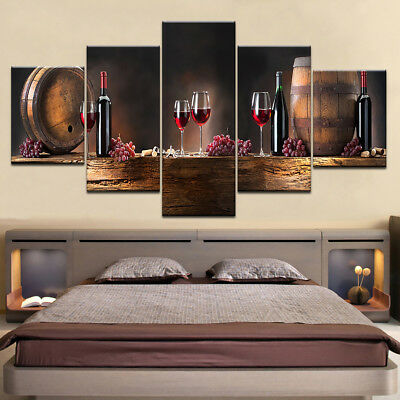 5Pcs Unframed Modern Art Painting Print Canvas Picture Home Wall Room Decor