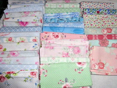 20 piece assorted quality quilting fabric bundles 100% cotton, 2 sizes 8 colours