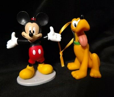 Disney Mickey Mouse and Pluto Christmas Ornament Set
