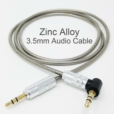 1M 3.5mm Jack Plug Aux Metal Cable Audio Lead For Headphone/MP3/iPod/Car