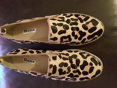 Dune Leopard Print Loafers Size 5 (38) - Great Condition