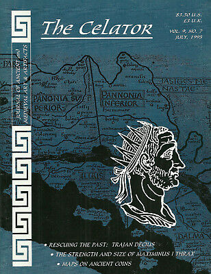 """""""the Celator"""" 1995 Vol 9, # 7 & 12 Journal Of Ancient And Medieval Coinage Vg"""