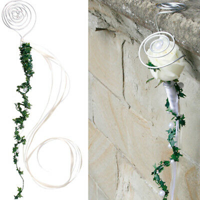 Pew Pendant with Beads Water Tubes for Bloom Kirchenchmuck Wedding #4