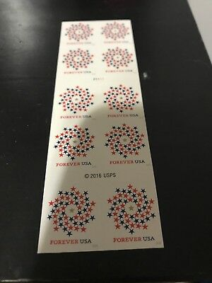 50  5 X 10 Forever Stamps First Class Postage Patriotic Spiral MINT.