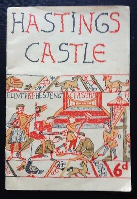 Vintage 60s Hasting Castle Kent Guide Book No 25350 printed on the back page.